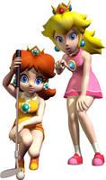 Mario Power Tennis  Peach and  Daisy