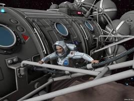 Women Space Suit Peril