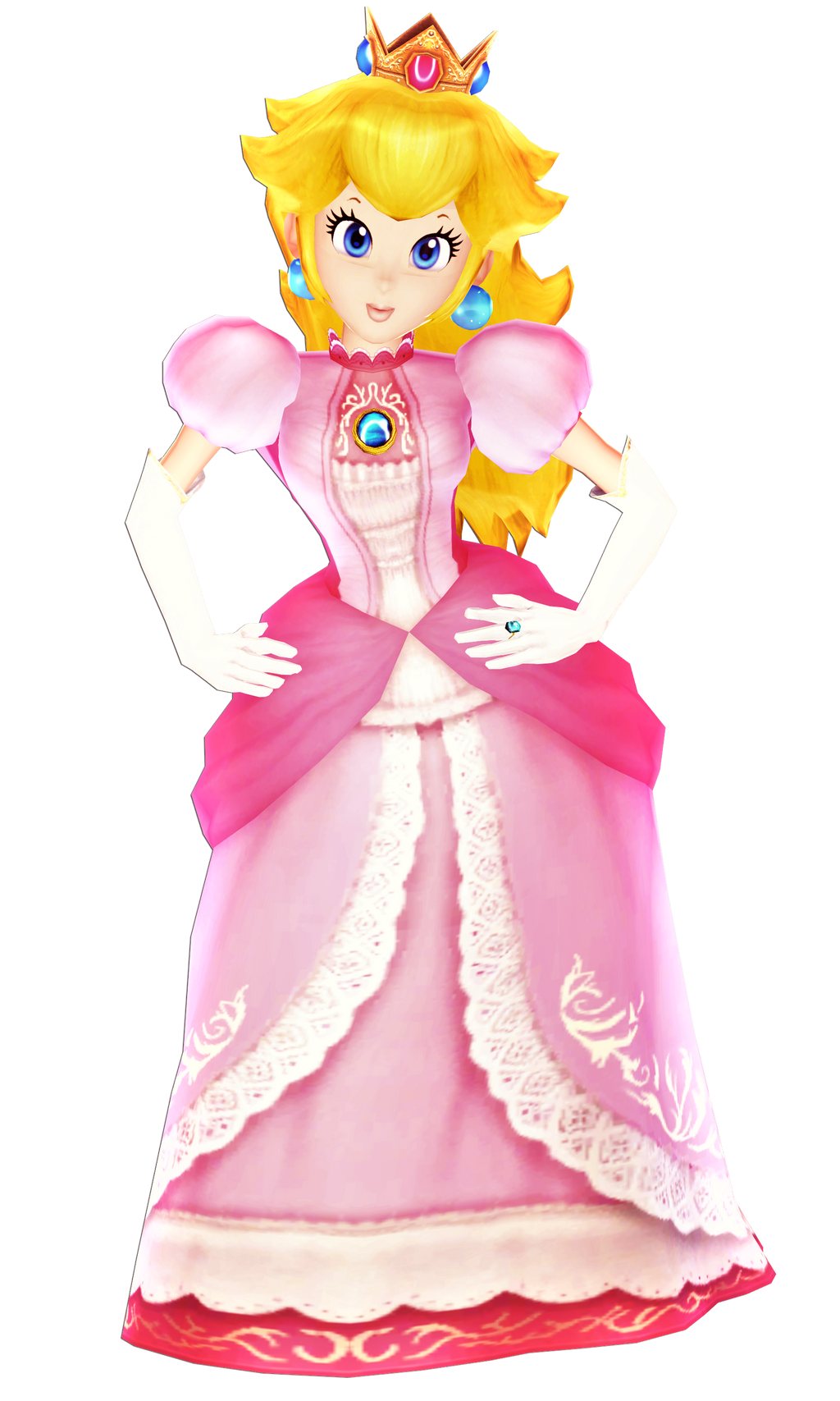 princess peach mmd render by 6rosenoir9 on deviantart