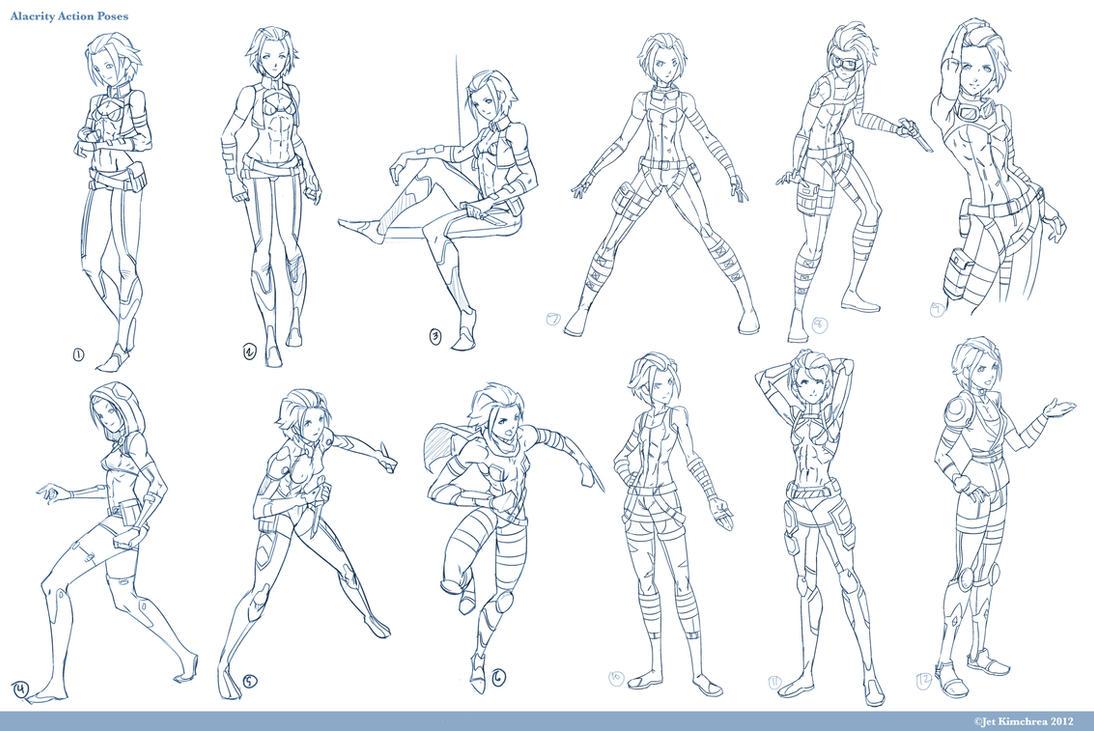 how to draw manga poses