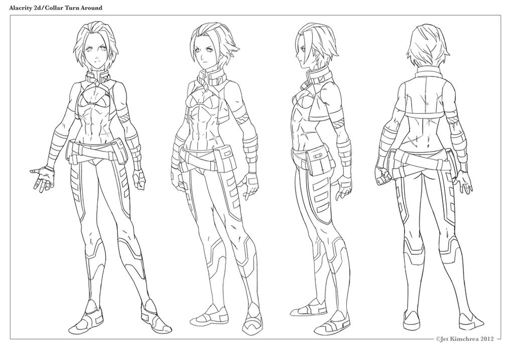 Alacrity Collar Coat Turnaround (lines) by THEJETTYJETSHOW