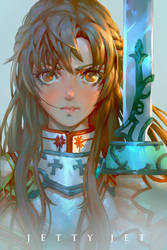 Asuna of Sword Art Online by THEJETTYJETSHOW
