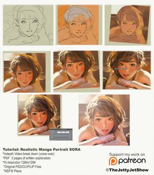 Painting Realistic Manga Portrait!