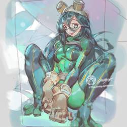 FrogGirl Daily Sketch #2 By JettyJet by THEJETTYJETSHOW