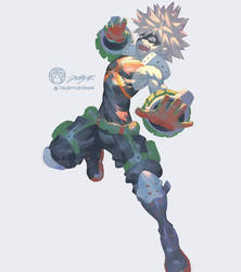 Bakugo DAILYSKETCH 19 by THEJETTYJETSHOW