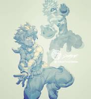 Isuku Midoriya Daily sketch 20 by THEJETTYJETSHOW