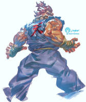 #Dailysketch 53 #Akuma from #Streetfighter by THEJETTYJETSHOW