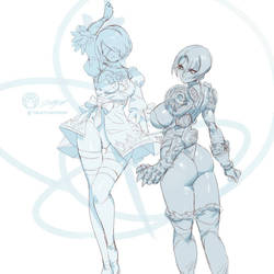 2b and Ivy by THEJETTYJETSHOW