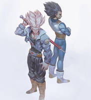 Trunks and Vegeta by THEJETTYJETSHOW