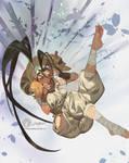 Ibuki Falling By Jetty