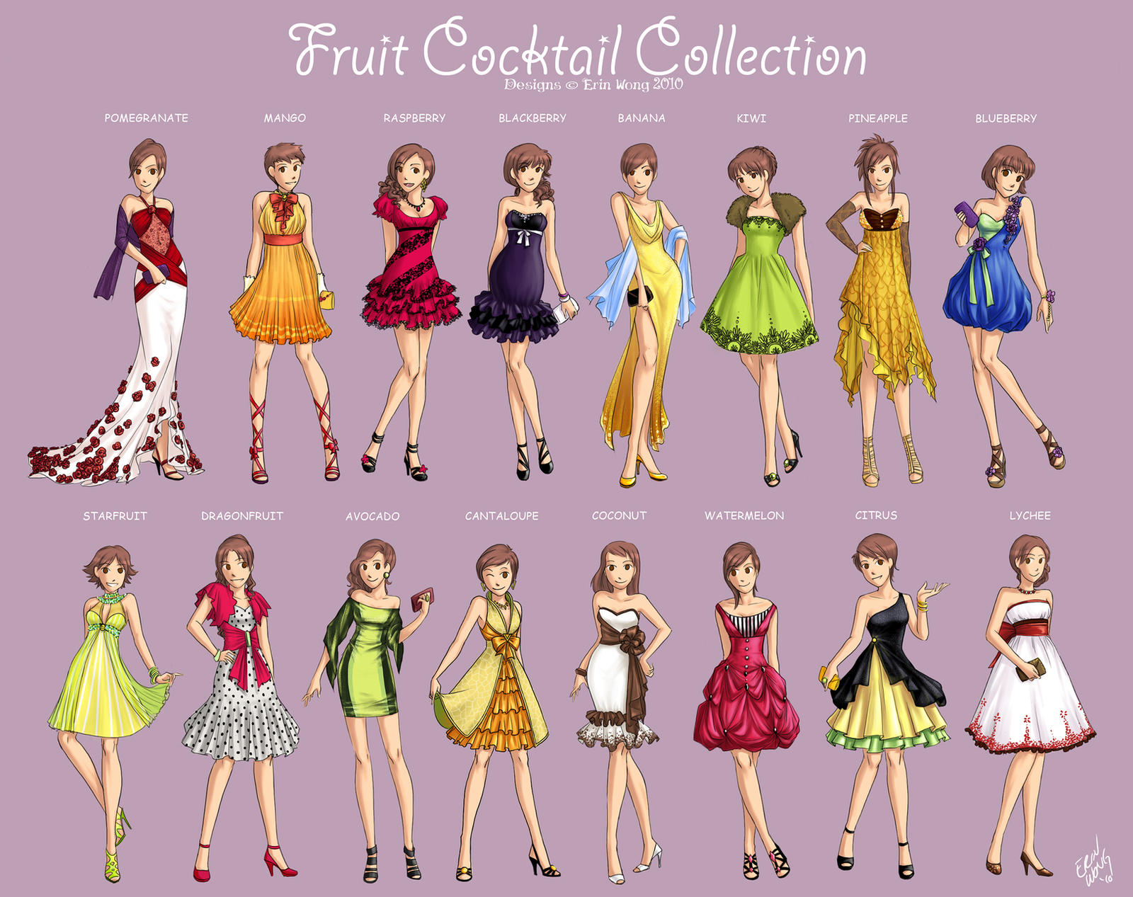 Fruit Cocktails by Nijuuni