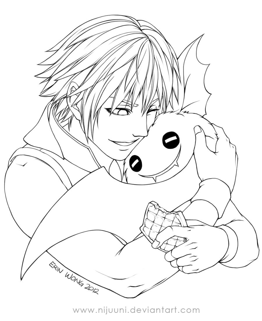 KHDDD - Riku's Companion Line Art by Nijuuni