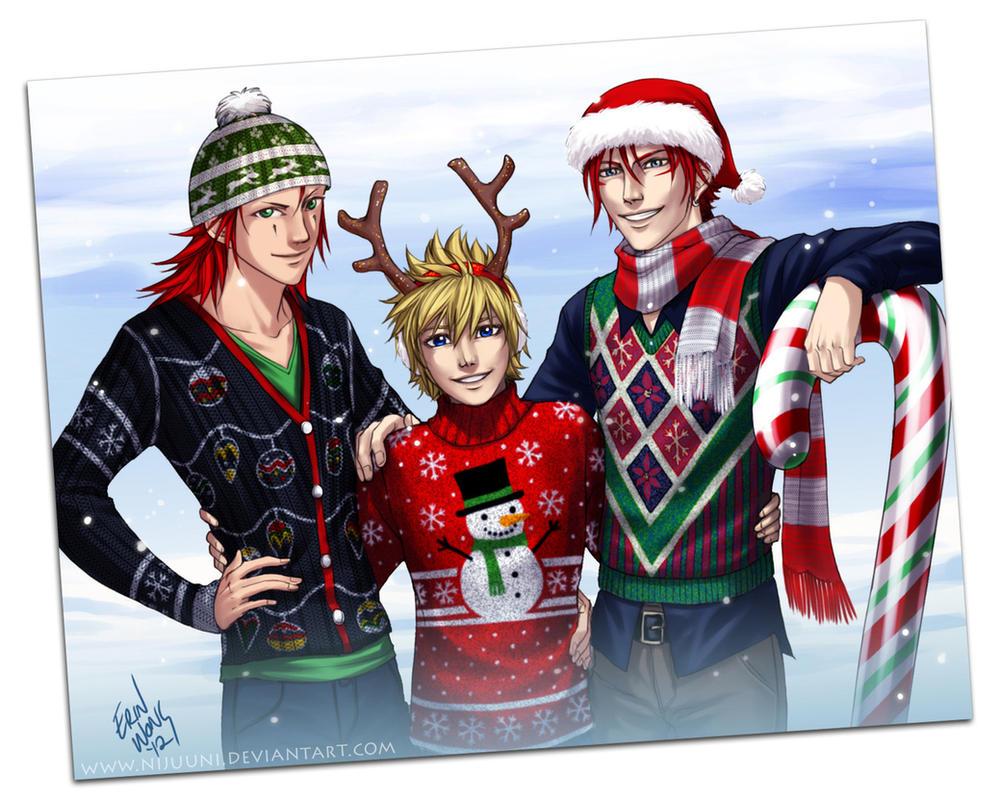 ARR - Christmas Sweaters by Nijuuni on DeviantArt