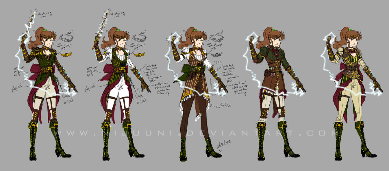 Steampunk Sailor Jupiter Designs by Nijuuni