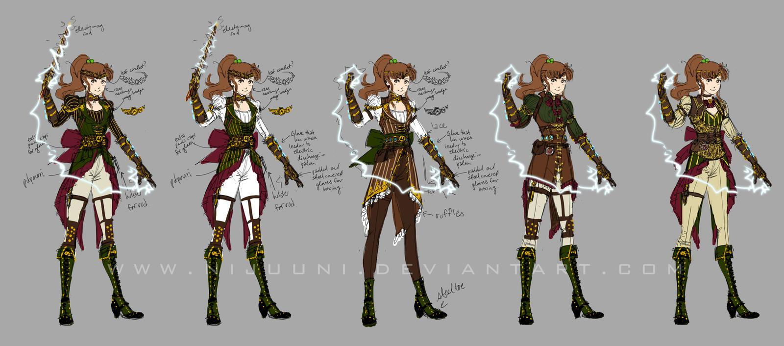 Steampunk Sailor Jupiter Designs by Nijuuni
