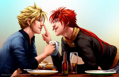 FF7 - CloudReno - Breakfast Boop by Nijuuni