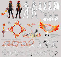 KH3 Axel Costume and Weapon Concepts