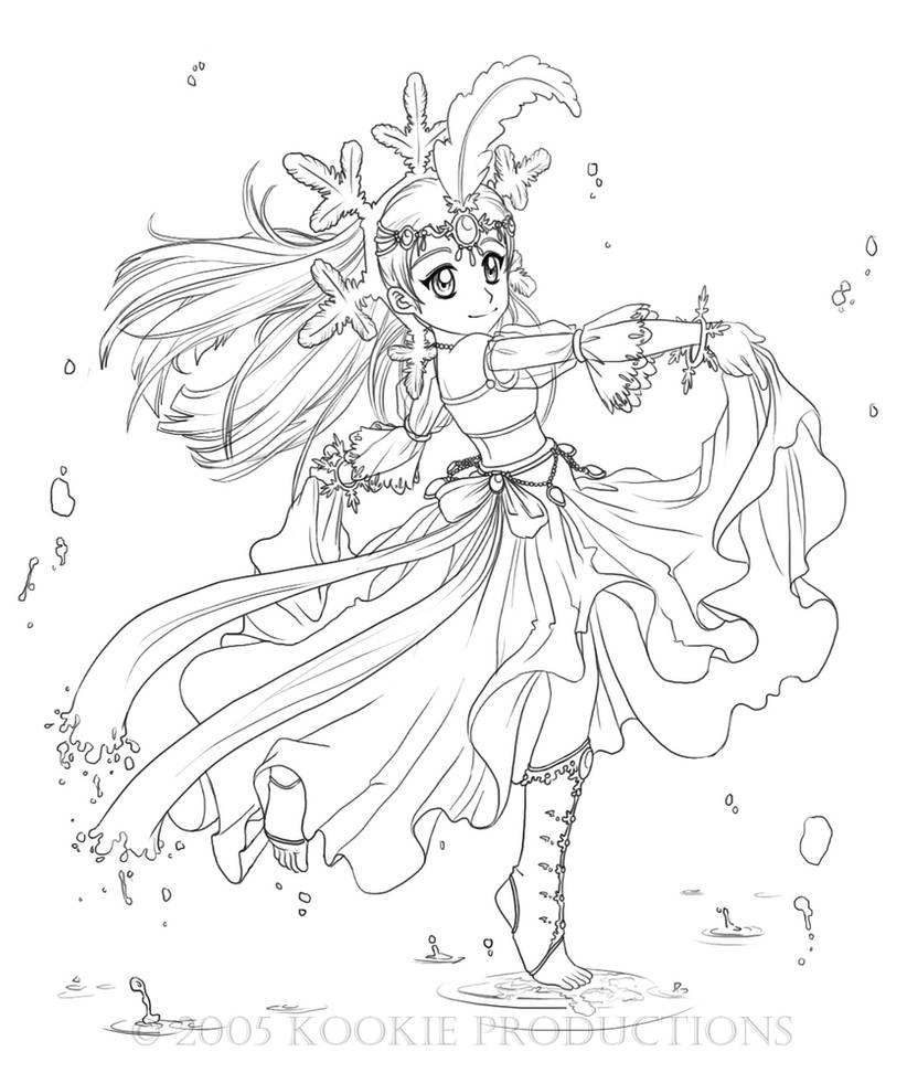 Lil Miss Snow - Coloring Page by Nijuuni on DeviantArt