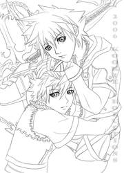 KH2 - My Other - Lineart