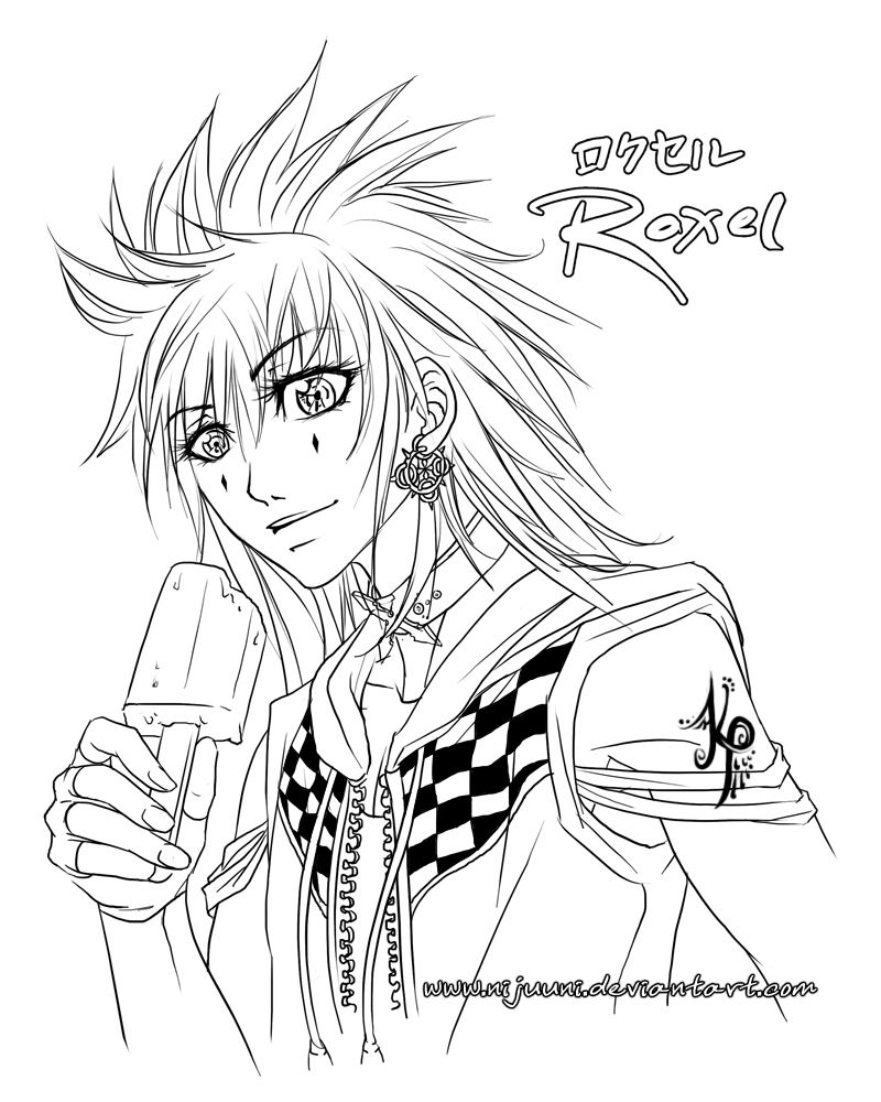 roxel coloring page by nijuuni on deviantart