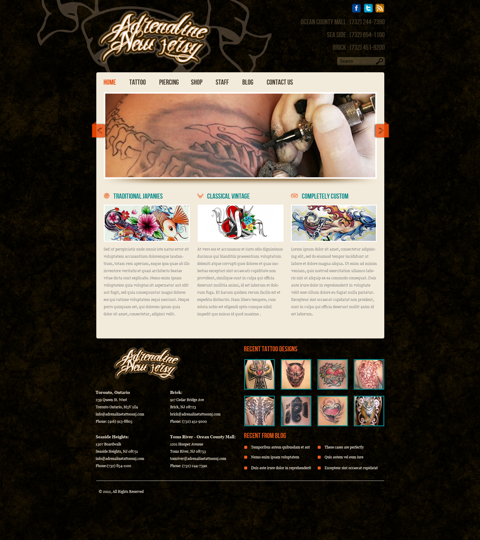 adrenaline tattoo web template by indiakichoice on deviantart. Black Bedroom Furniture Sets. Home Design Ideas
