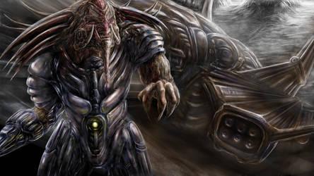 Alien Assassin by Metallart