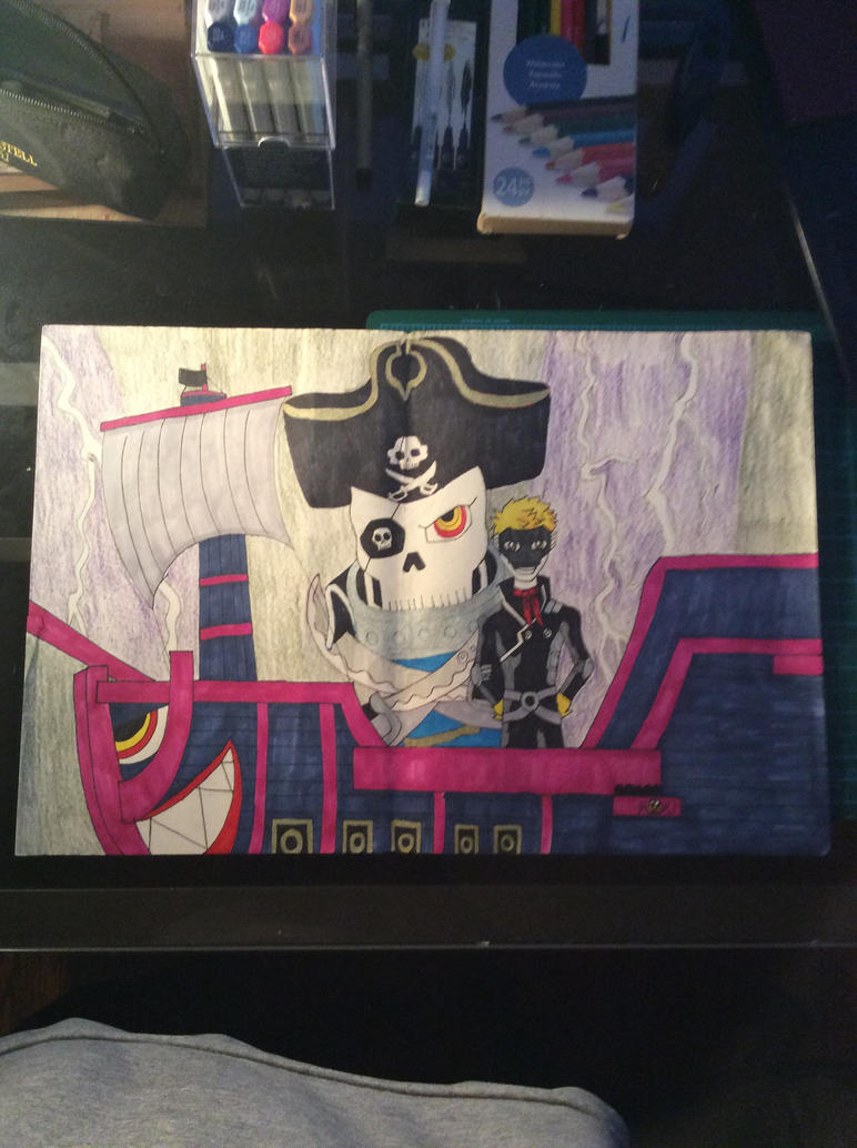 Ryuji and Captain Kidd by shojoboy1024