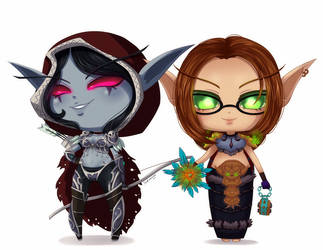 :C: Sylvanas and Clover by Suesanne