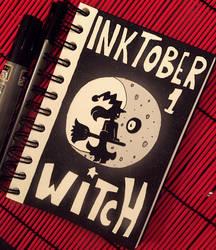 Inktober  Day 1 Witch by Suesanne