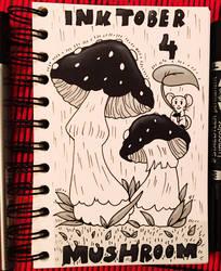 Inktober 4 Mushroom by Suesanne
