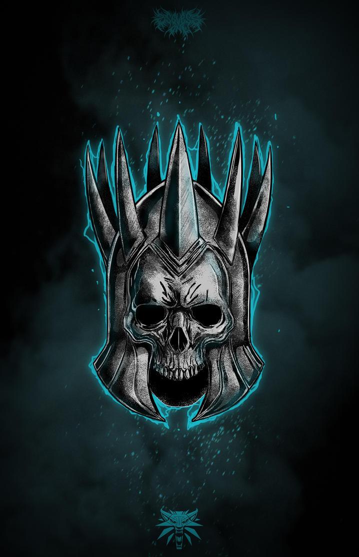 Eredins Helmet Witcher 3 Fan Art by UselessHopeless