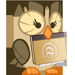 Address Book - Owlicious : OSX icon by glitch452