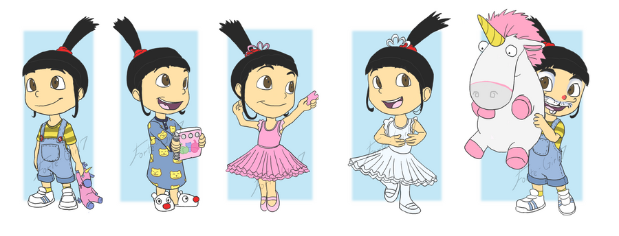 Despicable Me  Agnes  Wardrobe by forte-girl7Despicable Me Unicorn Drawing