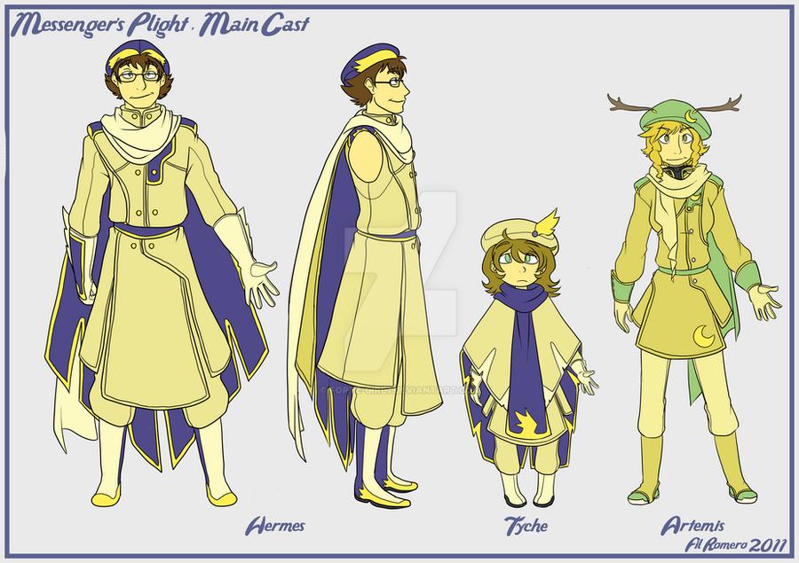 Character Design: Hermes by forte-girl7
