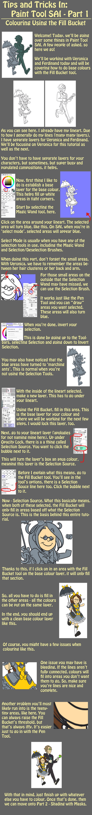 Tutorial: Colouring with the Fill Bucket in SAI by forte-girl7