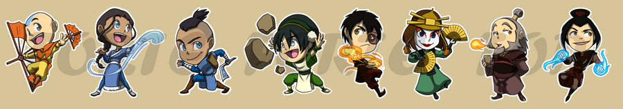 Stickers avatar the last airbender by forte girl7