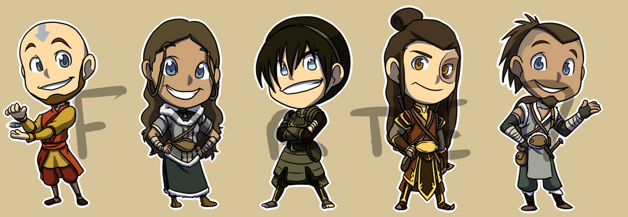 Stickers avatar the last airbender set 2 by forte girl7