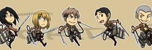Stickers: Attack On Titan Set 1