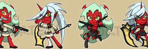 Stickers: Scanty and Kneesocks