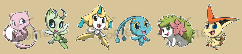 Stickers: Legendary Pokemon by forte-girl7