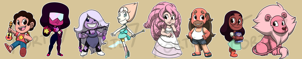 Stickers: Steven Universe Set 1 by forte-girl7