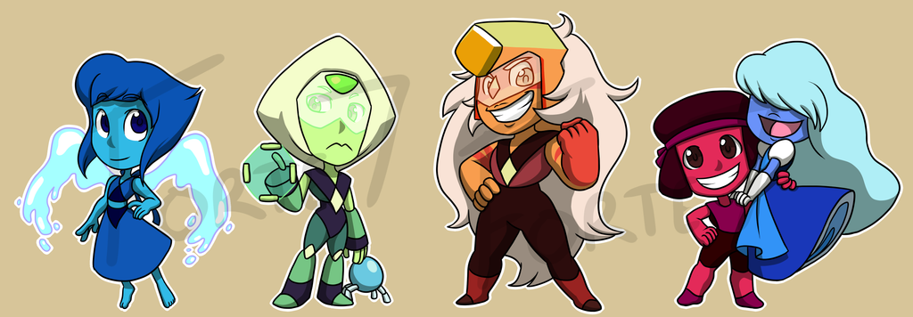 Stickers: Steven Universe Set 2 by forte-girl7
