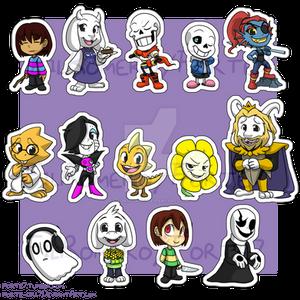 Stickers: Undertale