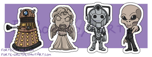 Stickers: Doctor Who Villains