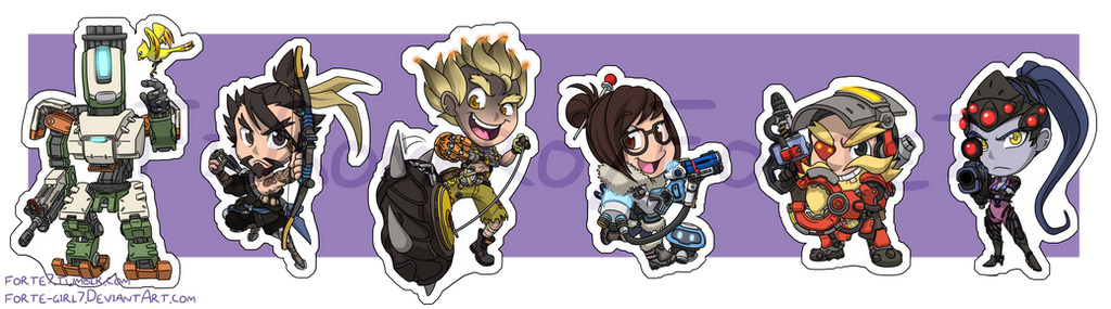 Stickers: Overwatch Set 2 by forte-girl7