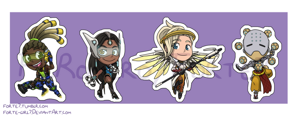 Stickers: Overwatch Set 4 by forte-girl7