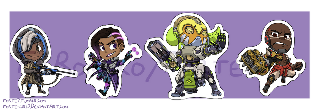 Stickers: Overwatch Set 5 by forte-girl7