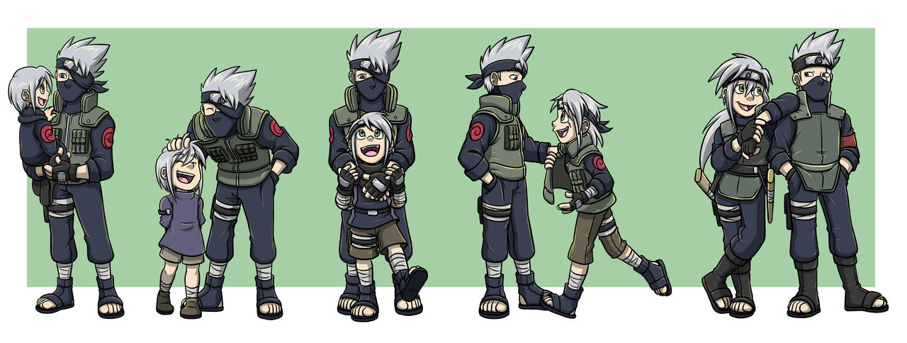 Naruto: Kaede and Kakashi Progression Interactions by forte-girl7