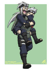 Naruto: Piggyback by forte-girl7