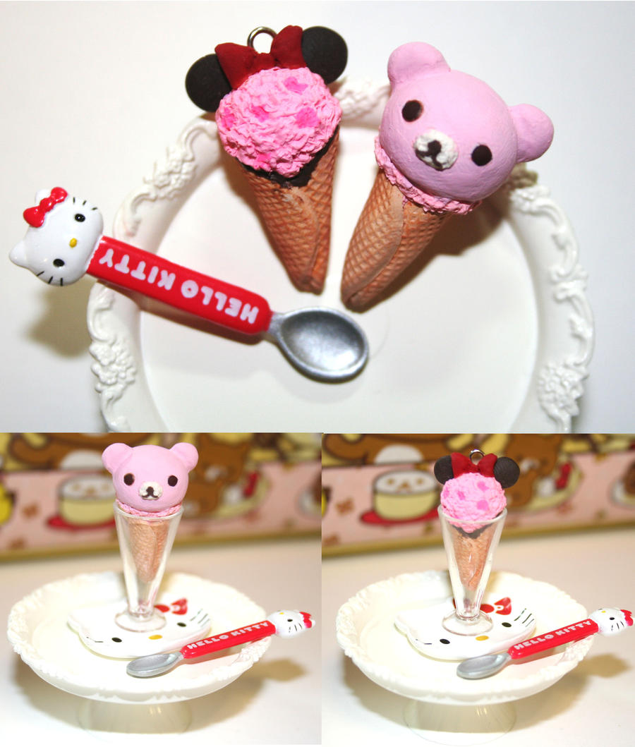 Minnie and Rilakkuma Ice Cream by PetiteWishes